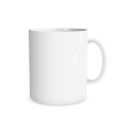 Realistic white cup vector image vector image