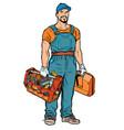 repairman handyman service professional vector image