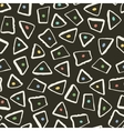 Retro style seamless pattern with geometric shapes vector image