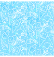 Seamless summer ice cream pattern grunge ice vector image