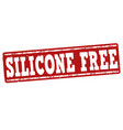 silicone free stamp vector image