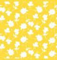 simple flower yellow pattern design vector image