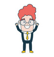 smiling businessman character on white background vector image vector image