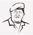stylized portrait of hugo chavez national leader vector image