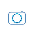 thin line camera icon on white background vector image vector image