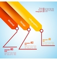 Three arrows use for infographics vector image vector image