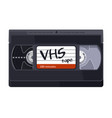 vintage classic vhs tape on white background vector image