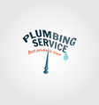 Vintage plumbing service badge banner or logo vector image vector image