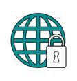 web protection padlock vector image vector image