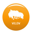 willow tree icon orange vector image vector image