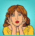 woman has a headache vector image vector image