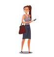 woman with bag flat character