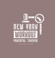 workout club emblem for t-shirt vector image