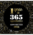 New Year 2016 inspiration quote poster gold vector image