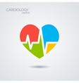 Symbol of cardiology isolated on white background vector image