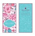 pink blue kimono flowers vertical frame vector image