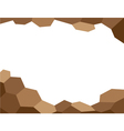 Abstract background brown vector image vector image