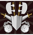Ancient weapon collection vector image vector image