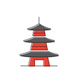 asian pagoda icon symbol architecture isolated on vector image vector image