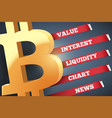 background of bitcoin infographic vector image