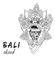 Bali sketch Barong - balinese god Traditional vector image vector image