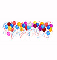 balloons for design banner vector image vector image
