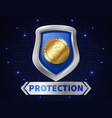 banking money protection golden coin in realistic vector image vector image