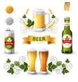 beer emblems vector image vector image