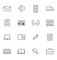 big data documents icon sets vector image vector image