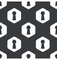 Black hexagon keyhole pattern vector image vector image