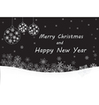black merry christmas and happy new year vector image vector image
