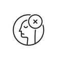 black thin line dismissal round logo vector image vector image
