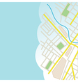 blue background with part of city map vector image vector image