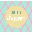 Bright summer card with hand drawn vector image vector image