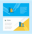 buildings abstract corporate business banner vector image