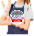 Career Opportunity For Chef Badge vector image vector image