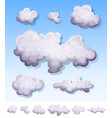 cartoon smoke fog and clouds set vector image