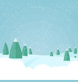 christmas winter snowfallforest landscape vector image vector image