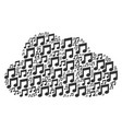 cloud composition of music icons vector image