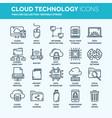 cloud omputing internet technology online vector image