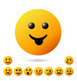 collection creative cartoon style smiles with vector image