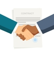 Conclusion of a contract Handshake two vector image vector image