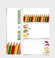 Cute note papers welcome back to school vector image vector image