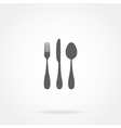 cutlery icon spoon fork knife vector image vector image