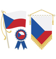czech republic flags vector image vector image