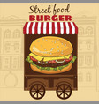 delicious juicy burger with ingredients a set of vector image vector image