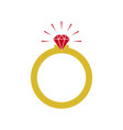 diamond ring graphic design template vector image vector image