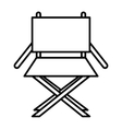 director chair isolated icon design vector image vector image