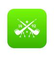 discover america 1492 icon green vector image vector image