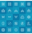 Drone or quadcopter icons set vector image vector image